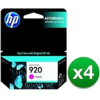 HP 920 Magenta Original Ink Cartridge (CH635AN)(4-Pack)