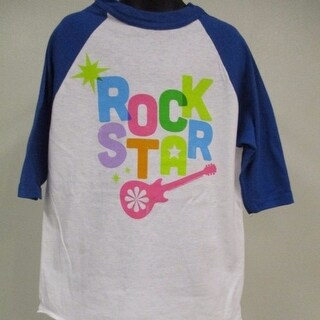 """Rock Star"" with Guitar by Nickelodeon YOUTH SIZES TEE Raglan T-SHIRT"