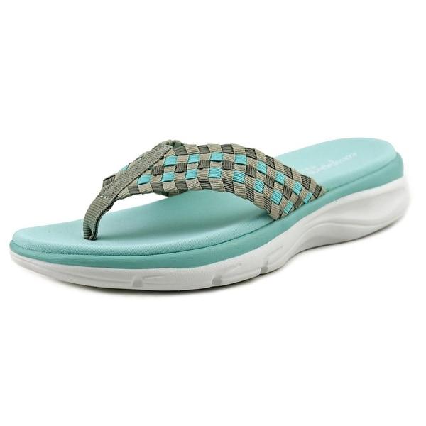 Easy Spirit Pondview Open Toe Canvas Thong Sandal