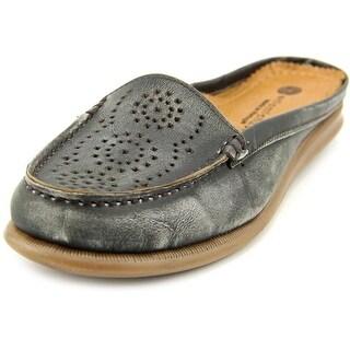 Eric Michael Maria Round Toe Leather Mules