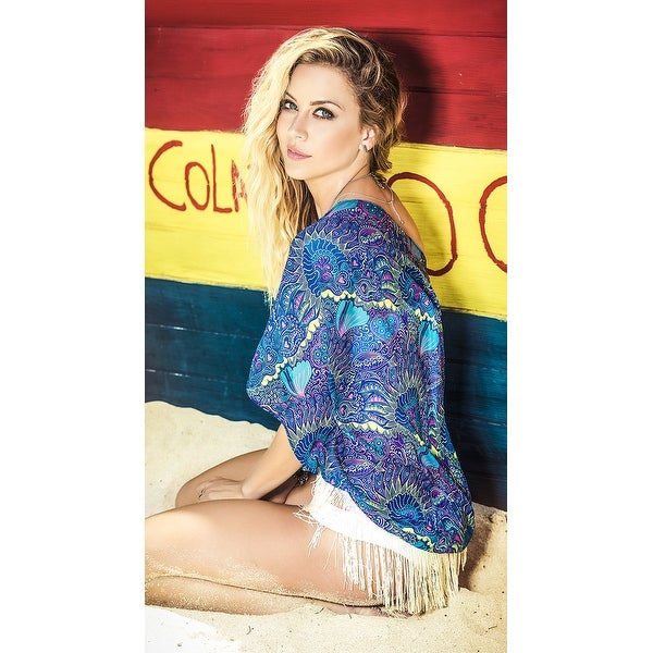 Shop Fringe Swing Kimono Cover Up, Hoty Beach Cover Up