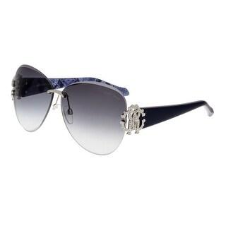 Roberto Cavalli RC901S HYADUM 16B Silver Aviator Sunglasses