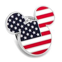 Enamel American Flag Mickey Lapel Pin