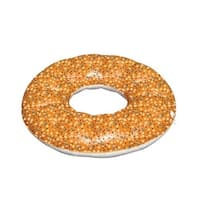 """48"""" Reversible Inflatable Everything Bagel Swimming Pool Float - brown"""