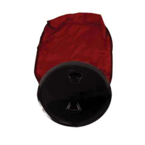 """7"""" Black and Red Contemporary Stowaway Deck Plate and Bag"""