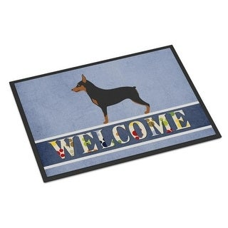 Carolines Treasures BB8323JMAT Miniature Pinscher Welcome Indoor or Outdoor Mat - 24 x 36 in.