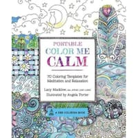 Portable Color Me Calm Adult Coloring Book - Lacy Mucklow