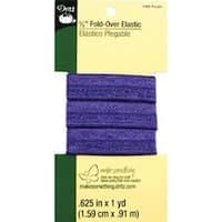 "Purple - Fold-Over Elastic 5/8""X1yd"