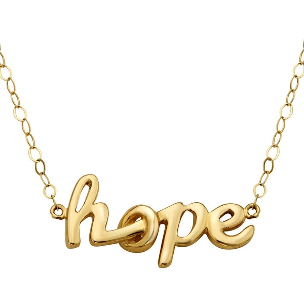 Just Gold 'Itsy Bitsy' Hope Necklace in 10K Gold - Yellow