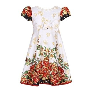 Richie House Girls Multi Color Flower Dress
