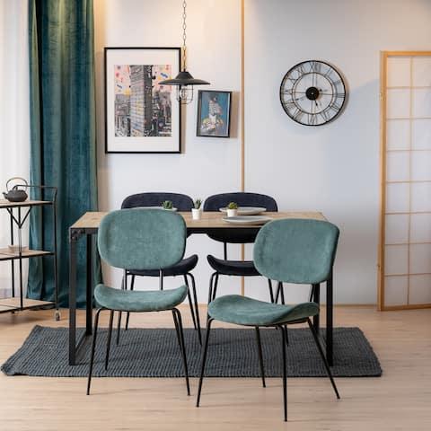 Homylin Modern Frabric Dining Chair Set of 2