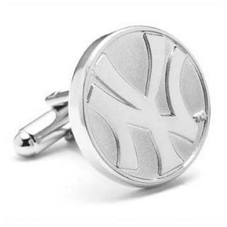 Silver Plated New York Yankees Silver Edition Cufflinks