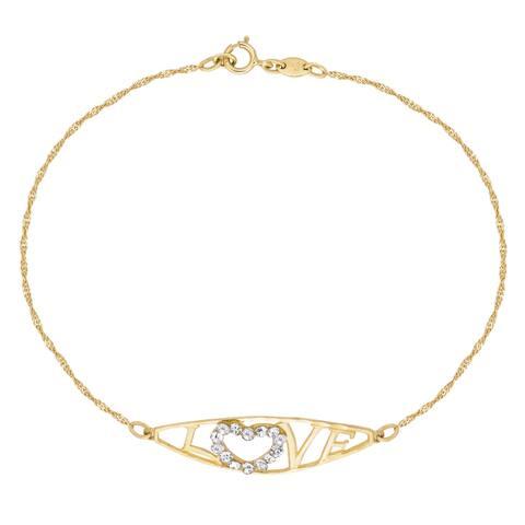 Forever Last 10 KtGold Love Bracelet with Cubic's
