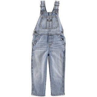 OshKosh B'gosh Little Boys' Denim Overalls - Sunfaded Light Wash