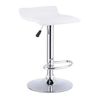 Costway 1 PC Swivel Bar Stool Adjustable Modern Leather Dinning Counter Chair White|https://ak1.ostkcdn.com/images/products/is/images/direct/bd18cc196e353fc839dae35fbc0c82e753b79854/Costway-1-PC-Swivel-Bar-Stool-Adjustable-Modern-Leather-Dinning-Counter-Chair-White.jpg?impolicy=medium
