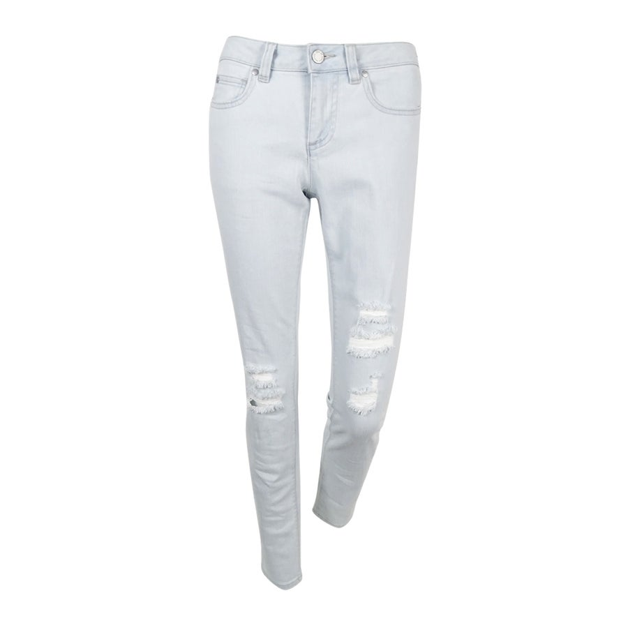 Tommy Hilfiger Womens Ripped Embellished Skinny Jeans