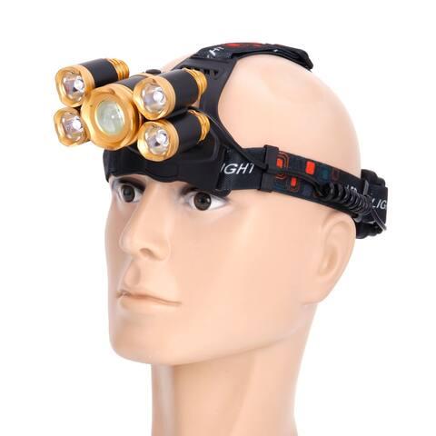 Flexible Zoom Highlight Outdoor Lighting Aircraft Head Headlamp Golden