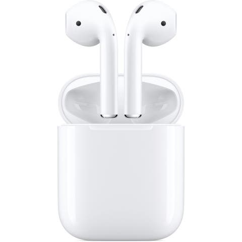 Apple AirPods with Wireless Charging Case (2nd Generation), White (Certified Refurbished)