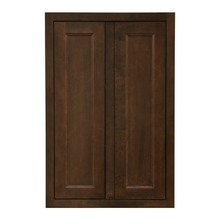"""Sunny Wood HBP2436T-A  Healdsburg 24"""" Wide x 36"""" High Double Door Pantry Cabinet - Rich Walnut Finish"""