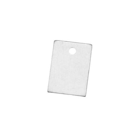 Sterling Silver Blank Stamping Rectangle Charms 9x6mm (2)