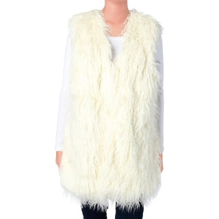 Lauren Ralph Lauren Womens Faux Fur Lined Casual Vest