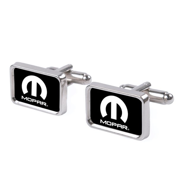 Mopar Logo Fcg Black White Cufflink Set One Size