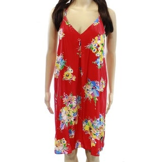 Polo Ralph Lauren NEW Red Floral Print Women's 8 Sheath Silk Dress