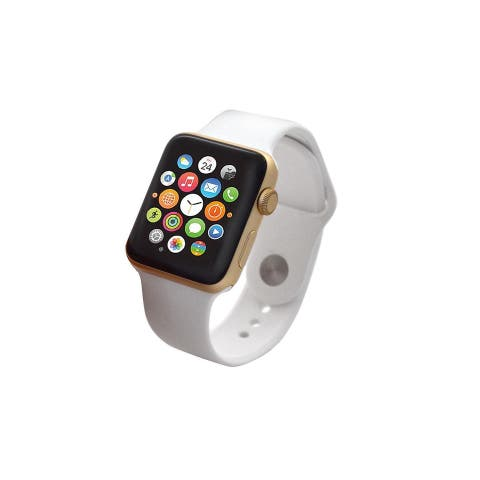 Apple Watch Series 2 42mm Gold Aluminum Case & White Band (Refurbished)