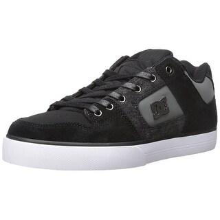 DC Men's PURE SE Shoe, Black Destroy Wash - black destroy wash