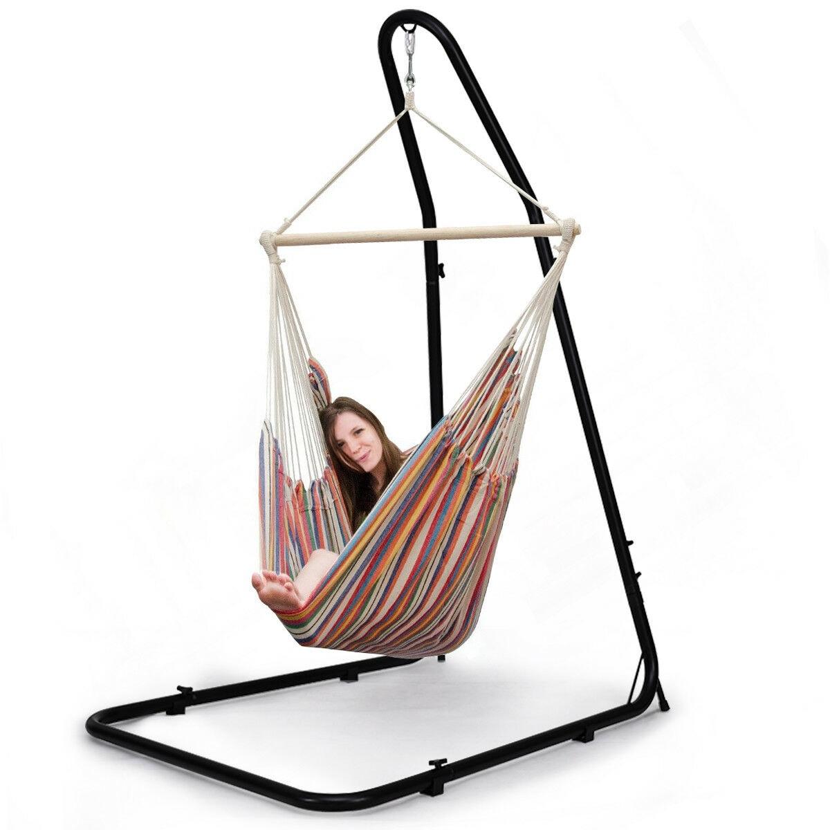 Shop Costway Adjustable Hammock Chair Stand For Hammocks Swings