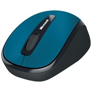 Microsoft 3500 Wireless Mobile Mouse, Cyan Blue (Gmf-00273)