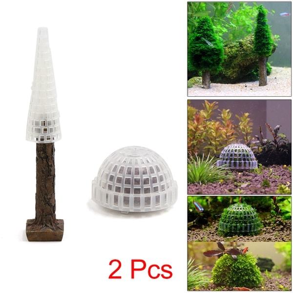 Christmas Tree Moss Aquarium: Shop 2pcs Plastic Moss Christmas Tree Trunk Moss Ball