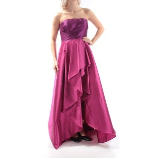 ADRIANNA PAPELL Womens Purple Sleeveless Strapless Full Length Formal Dress Size: 4