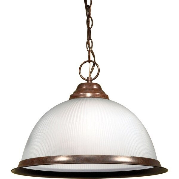 "Nuvo Lighting 76/690 Single Light 15"" Wide Pendant - Old Bronze"