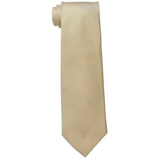 Michael Kors NEW Yellow Pick Stitch Unsolid Neck Tie Microfiber
