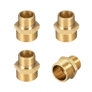 "Brass Pipe Fitting Reducing Hex Nipple 1/4""x 3/8"" G Male Pipe Brass Fitting 4pcs - 1/4"" to 3/8"" G Male 4pcs"