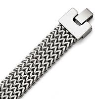 Chisel Stainless Steel Polished Woven Bracelet