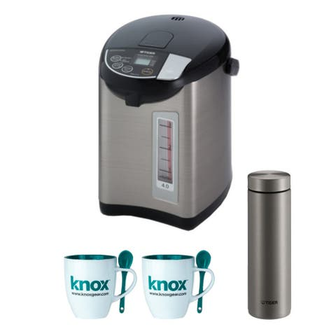 Tiger PDU-A40U Electric Water Boiler & Warmer (4L) with Bottle Bundle