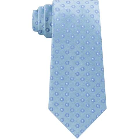 Kenneth Cole Reaction Mens Brandon Neck Tie Silk Blend Pattern - Blue - O/S