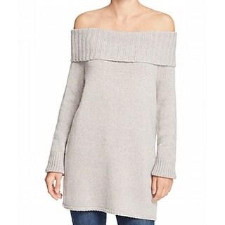 Rebecca Minkoff NEW Gray Womens Size XS Off-Shoulder Wool Sweater
