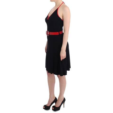 Roccobarocco Black belted palladio Women's dress