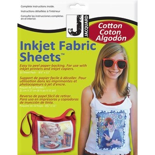 """Ink Jet Fabric Sheets 8.5""""X11"""" 10/Pkg-100% Cotton Percale"""