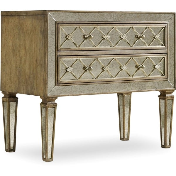 "Hooker Furniture 5414-90017 34"" Wide 2 Drawer Hardwood Dresser from the Sanctuary Collection - Avalon Silver Leaf"