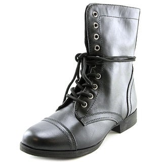 Wild Pair Belfair Women Round Toe Synthetic Black Mid Calf Boot
