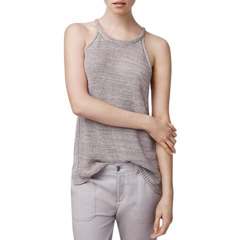 B New York Womens Tank Top Sweater Cable Knit Sleeveless - Hazelnut