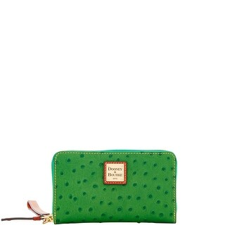 Dooney & Bourke Ostrich Embossed Leather Zip Around Phone Wristlet (Introduced by Dooney & Bourke at $118 in Apr 2018)