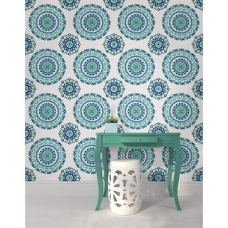 Brewster Medallion Peel and Stick Wallpaper Medallion Wall Pops Wallpaper