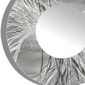 Statements2000 Silver Metal Decorative Wall-Mounted Mirror by Jon Allen - Mirror 104 - Thumbnail 3