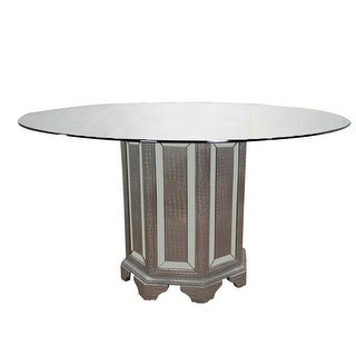Link to Best Master Furniture Tuxedo 60 Inch Round Glass Dining Table Similar Items in Dining Room & Bar Furniture