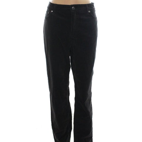 Lauren By Ralph Lauren Womens Straight Corduroy Pants